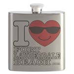 I Love Fort Lauderdale Beach Flask