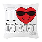 I Love Miami Woven Throw Pillow
