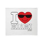 I Love Miami Throw Blanket