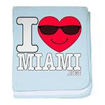I Love Miami baby blanket