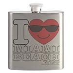 I Love Miami Beach Flask