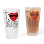 I Love Miami Beach Drinking Glass