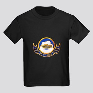 USS Kitty Hawk CV-63 Kids Dark T-Shirt