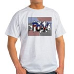 Halftone Poly Typography T-Shirt