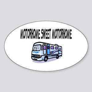 Motorhome Sweet Motorhome Oval Sticker
