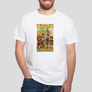 Patriotic Kids White T-Shirt