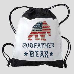 USA Godfather Drawstring Bag