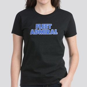 Retro Fleet Admiral (Blue) Women's Dark T-Shirt