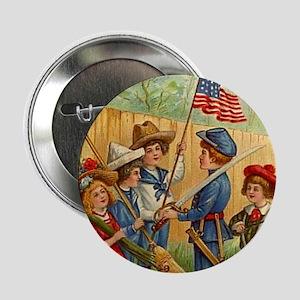 "Patriotic Kids 2.25"" Button"