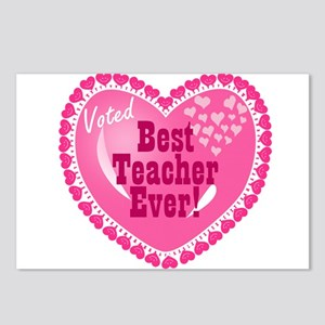 Voted Best Teacher EVER Postcards (Package of 8)