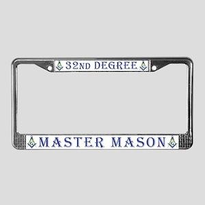 32nd Degree License Plate Frame