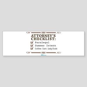 Checklist #3 Bumper Sticker