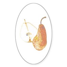 Two Pears Oval Sticker