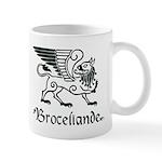 Broceliande mug - green