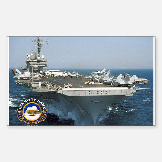 USS Kitty Hawk CV-63 Rectangle Decal