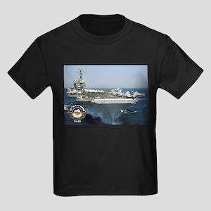 USS Kitty Hawk CV-63 Kids Dark T-Shirt
