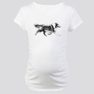 Running Collie Maternity T-Shirt
