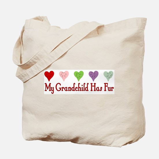Furry Grandchild Tote Bag