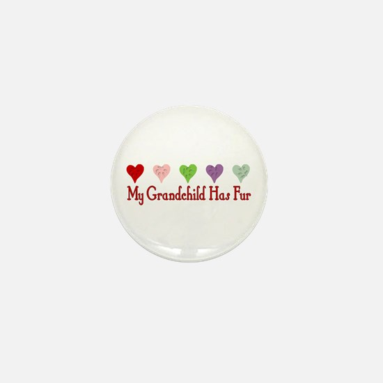 Furry Grandchild Mini Button