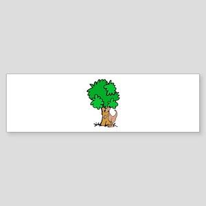 Kangaroo Tree Hugger Bumper Sticker