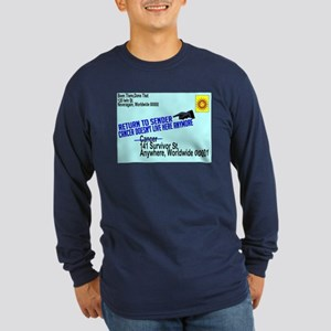 Cancer No More Long Sleeve Dark T-Shirt