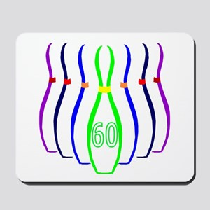 60th birthday bowling Pins Mousepad