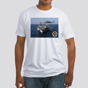 USS John F. Kennedy CV-67 Fitted T-Shirt