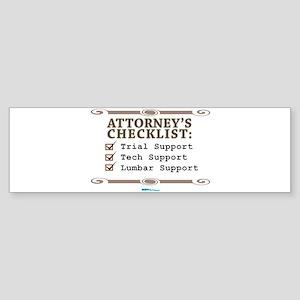 Checklist #4 Bumper Sticker