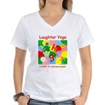 Laughter Yoga LAUGH Women's V-Neck T-Shirt