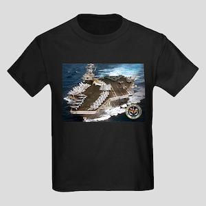 USS John F. Kennedy CV-67 Kids Dark T-Shirt