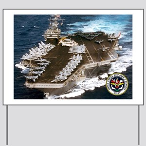 USS John F. Kennedy CV-67 Yard Sign