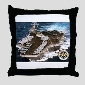 USS John F. Kennedy CV-67 Throw Pillow