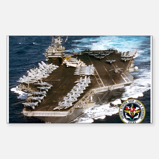 USS John F. Kennedy CV-67 Rectangle Decal