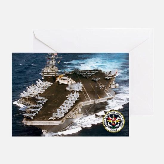 USS John F. Kennedy CV-67 Greeting Card
