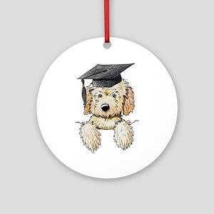 Graduation Pkt. Doodle Ornament (Round)