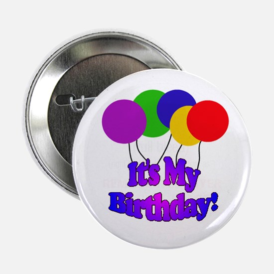 Balloons It's My Birthday Button