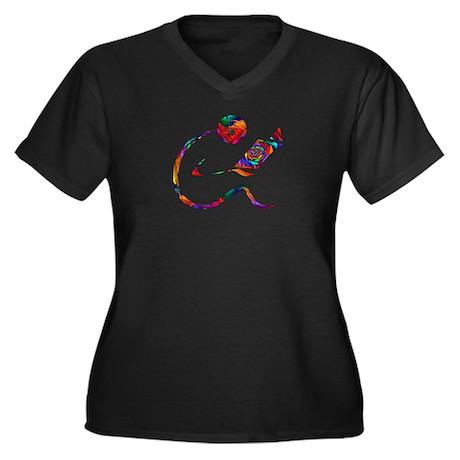 Inner Child Women's Plus Size V-Neck Dark T-Shirt