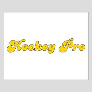 Retro Hockey Pro (Gold) Small Poster