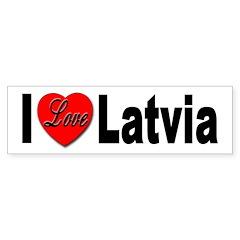 I Love Latvia Bumper Bumper Sticker