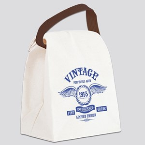 Vintage Perfectly Aged 1955 Canvas Lunch Bag