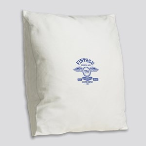 Vintage Perfectly Aged 1955 Burlap Throw Pillow
