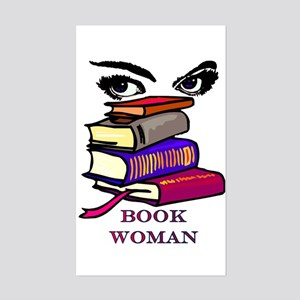 Book Woman Rectangle Sticker