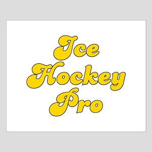 Retro Ice Hockey .. (Gold) Small Poster