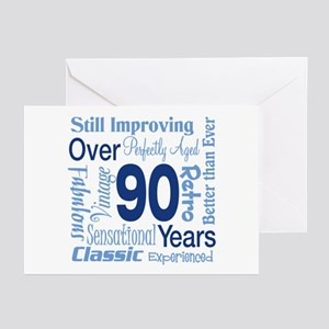 Over 90 years, 90th Birthday Greeting Cards (Pk of
