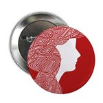 """Red Lady 2.25"""" Button"""