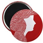 """Red Lady 2.25"""" Magnet (100 pack)"""