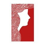 Red Lady Sticker (Rectangle 50 pk)
