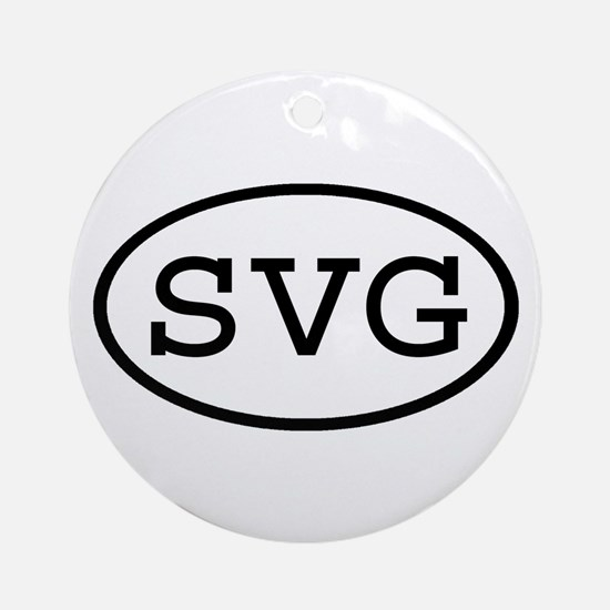 SVG Oval Ornament (Round)