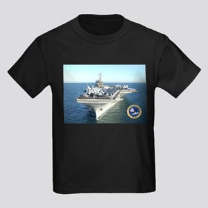 USS Constellation CV-64 Kids Dark T-Shirt