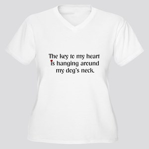 Key To My Heart Women's Plus Size V-Neck T-Shirt